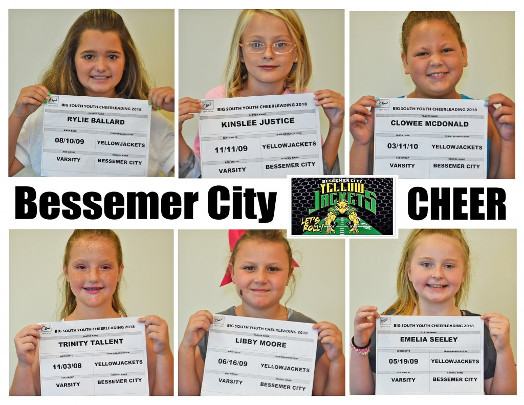 Varsity Cheer Bessemer City Roster Page 1