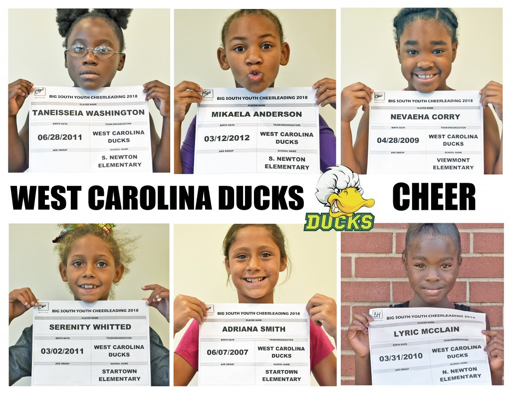 West Carolina Ducks Cheer Roster page 2