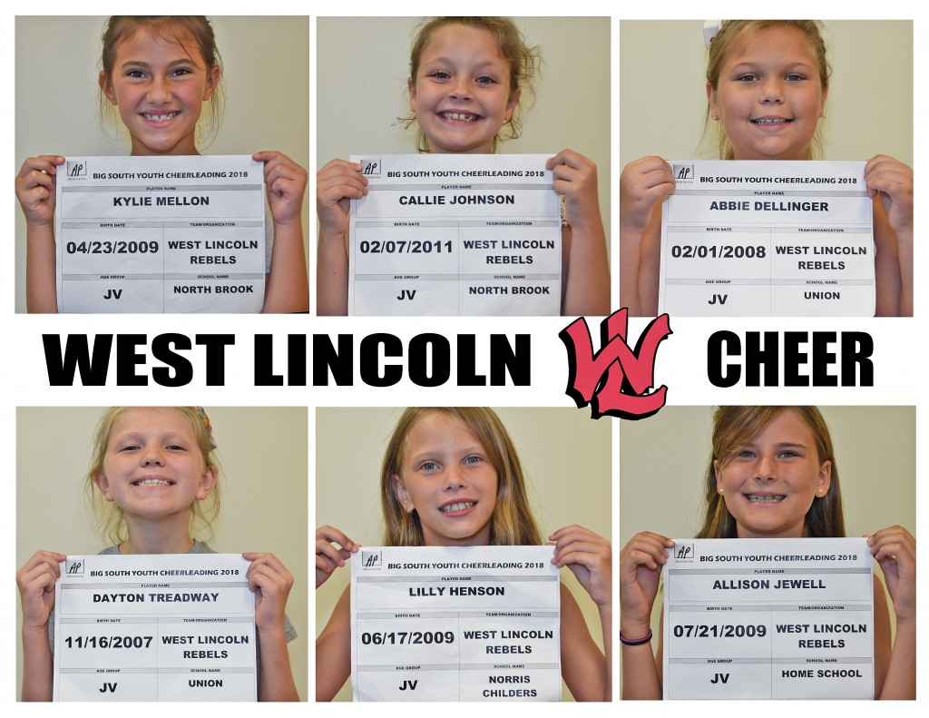 West Lincoln Rebels JV Cheer Roster page 1
