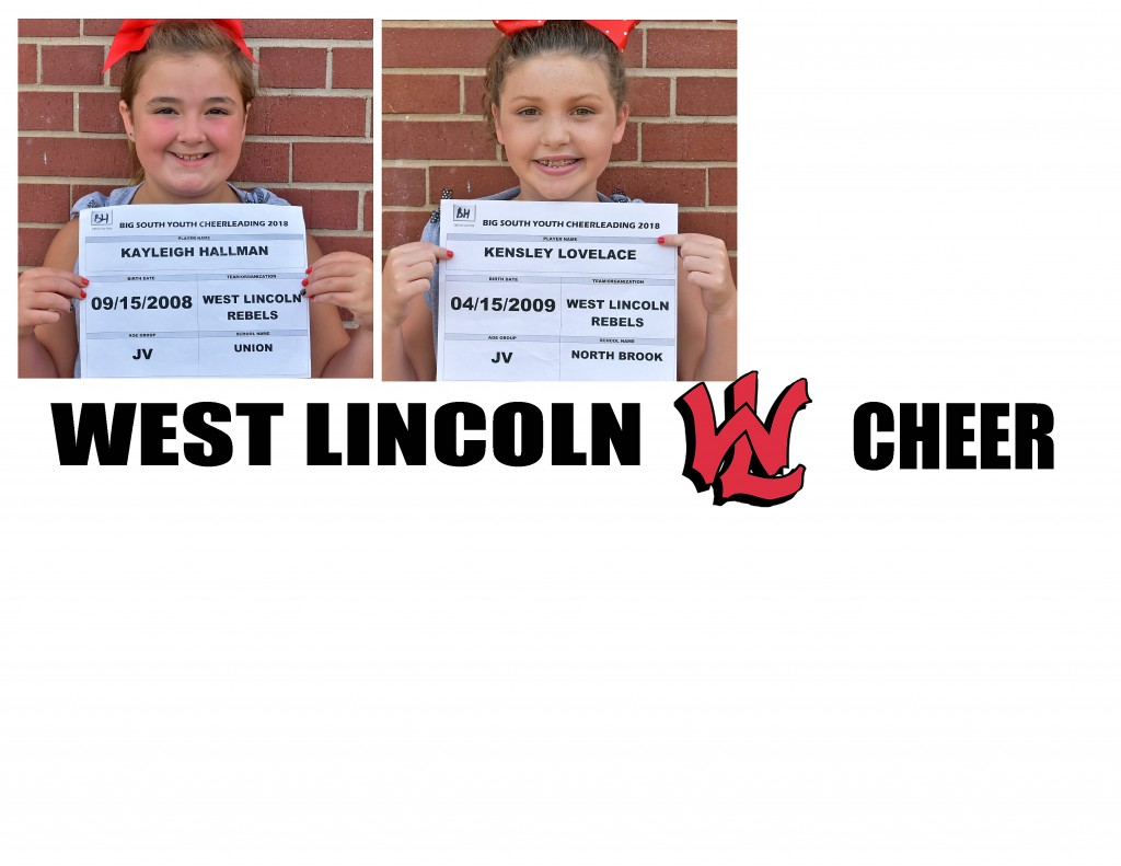 West Lincoln Rebels JV Cheer Roster page 2