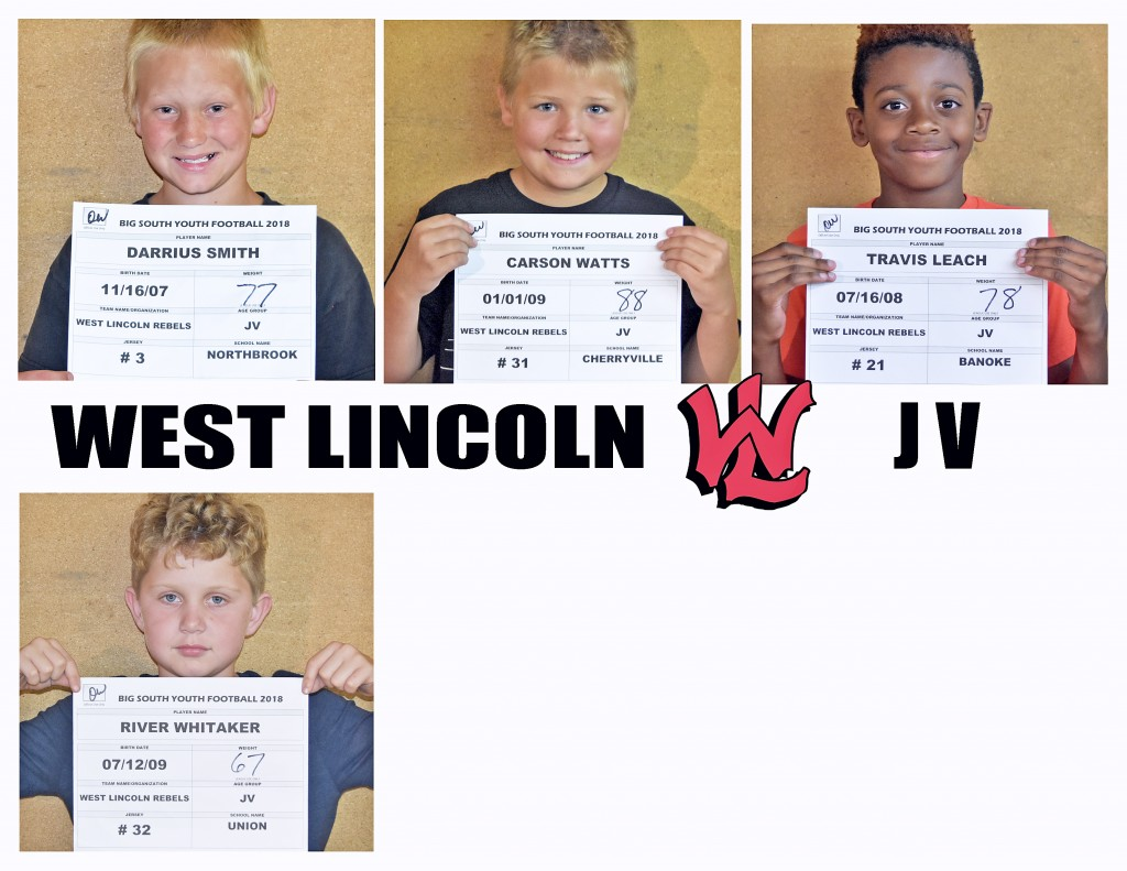 West Lincoln Rebels JV Roster Page 4