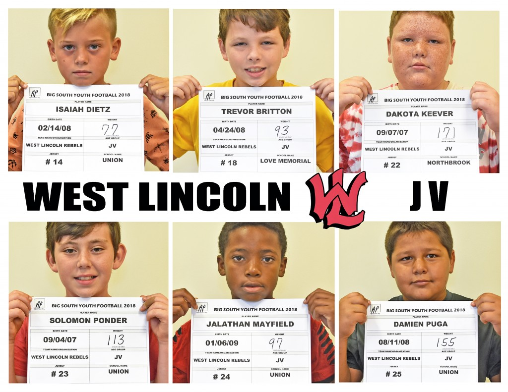 West Lincoln Rebels JV page 2 replacement