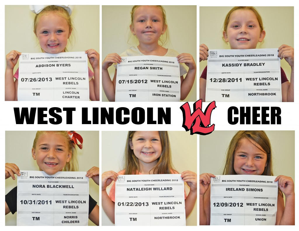 West Lincoln Rebels TM Cheer Roster page 1