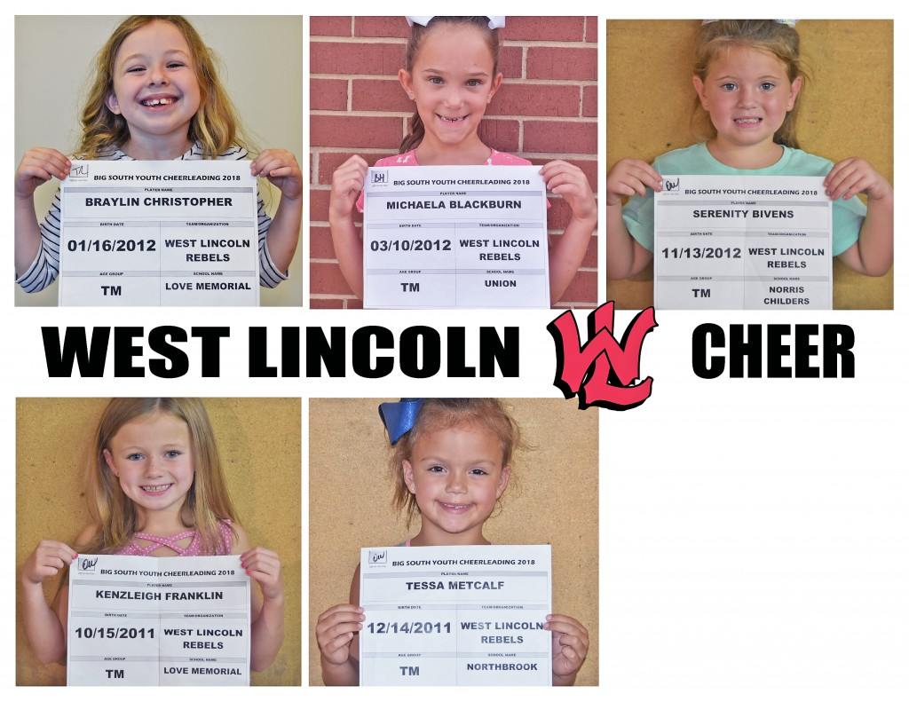 West Lincoln Rebels TM Cheer Roster page 2
