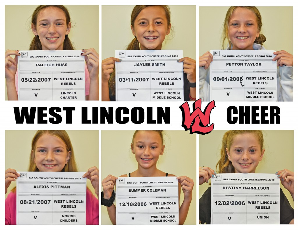 West Lincoln Rebels Varsity Cheer Roster page 1